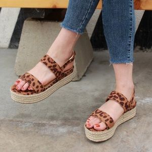 Shoes - Size 7.5 Leopard Espadrille
